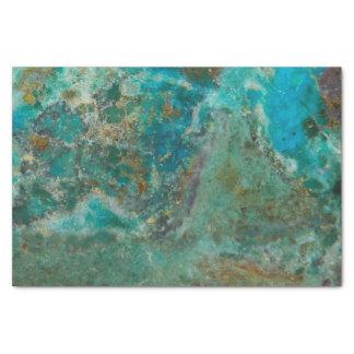 Het blauwe Afbeelding van de Steen Chrysocolla Tissuepapier