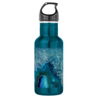 Het blauwe Afbeelding van het Kristal van het Waterfles