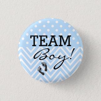 Het Blauwe Baby shower van de Jongen van het team Ronde Button 3,2 Cm