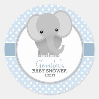 Het blauwe) Baby shower van het baby van de Ronde Sticker
