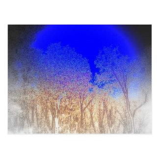 Het blauwe Baby van de Maan Briefkaart