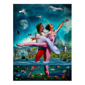 Het blauwe Ballet van de Maan een Volledige Fictie Briefkaart
