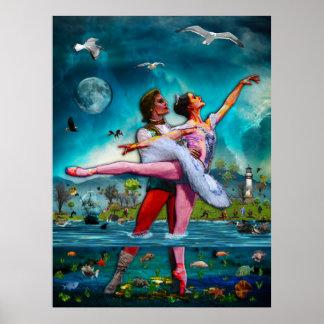 Het blauwe Ballet van de Maan een Volledige Fictie Poster