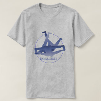 Het blauwe BasisGrijs van de Dans van de T Shirt