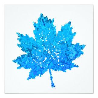 Het blauwe Blad van de Esdoorn Kaart