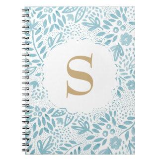 Het Blauwe Bloemen Gepersonaliseerde Notitieboek