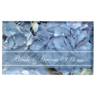 Het blauwe BloemenHuwelijk van de Hydrangea Tafelkaart Houder