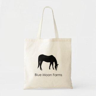 Het blauwe Bolsa van het Paard van de Boerderijen Draagtas