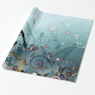 Het blauwe Bos van de Geheimzinnigheid van Bloemen Inpakpapier