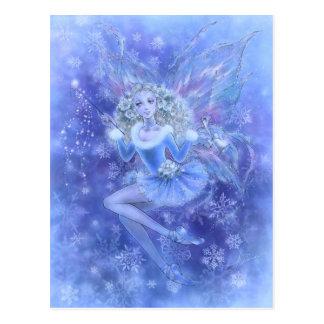 Het blauwe Briefkaart van de Fee van Kerstmis
