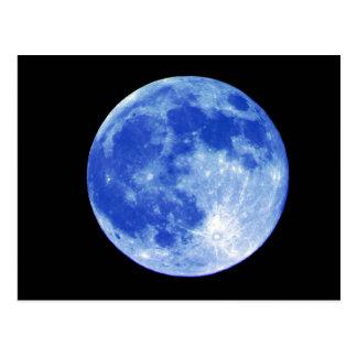 Het blauwe Briefkaart van de Maan