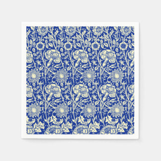 Het Blauwe Calico van Sorta Wegwerp Servetten