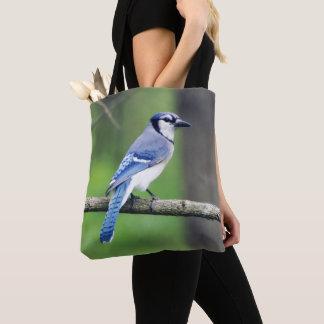 Het blauwe Canvas tas van de Vlaamse gaai