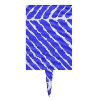 Het blauwe Canvas van de Strepen van de Tijger Cake Topper
