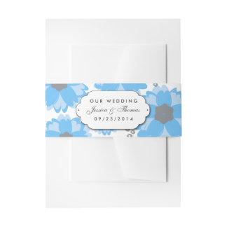 Het blauwe Collectie van het Huwelijk van de Uitnodigingen Wikkel