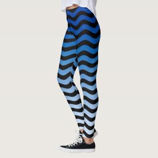 Het blauwe Decor van de Strepen van Tinten Leggings