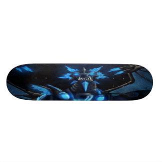 het blauwe dek van het draakskateboard skateboard