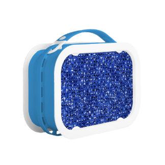 Het blauwe Effect van Sequinned Bling Lunchbox