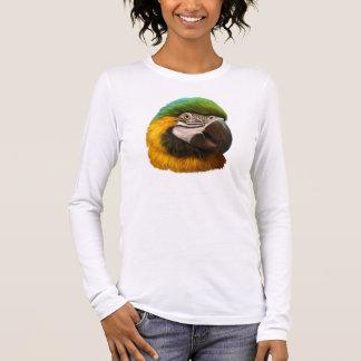 Het blauwe en gouden ara realistische schilderen t shirts