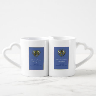 Het blauwe en Gouden Hart van het Huwelijk Loversmok