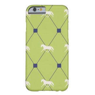 Het blauwe en Groene het Draven Harleqiun Patroon Barely There iPhone 6 Hoesje