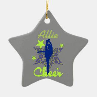 Het blauwe en groene ornament van de