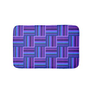 Het blauwe en paarse patroon van het badmatten