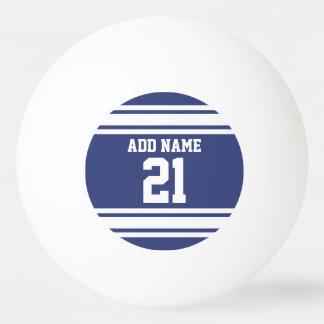 Het blauwe en Witte Aantal van de Naam van de Pingpongbal