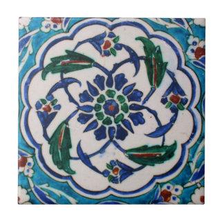 Het blauwe en witte bloemenontwerp van de de keramisch tegeltje