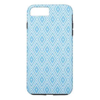 Het blauwe en Witte Patroon van de Diamant iPhone 8/7 Plus Hoesje