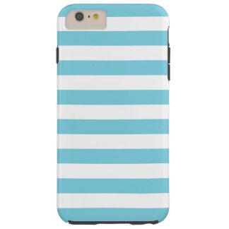 Het blauwe en Witte Patroon van de Streep Tough iPhone 6 Plus Hoesje
