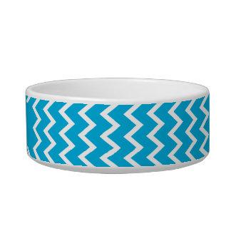 Het blauwe en Witte Patroon van de Zigzag Voerbakje