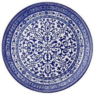 Het blauwe en Witte Roman Ontwerp van de 16de Eeuw Porselein Bord
