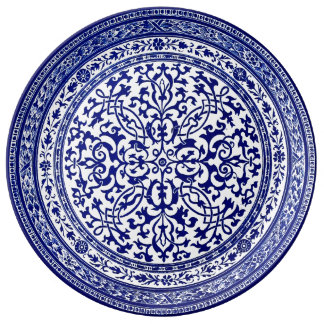 Het blauwe en Witte Roman Ontwerp van de 16de Eeuw Porseleinen Bord