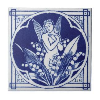 Het blauwe en Witte Vintage Ontwerp Mintons van de Tegeltje Vierkant Small