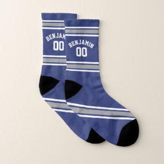 Het blauwe en Zilveren Aantal van de Naam van de Sokken