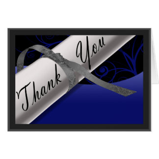 Het blauwe en Zilveren Diploma dankt u Notitiekaart