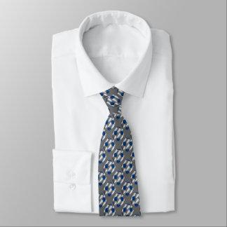 Het blauwe en Zilveren Ontwerp van de Bal van het Custom Stropdassen