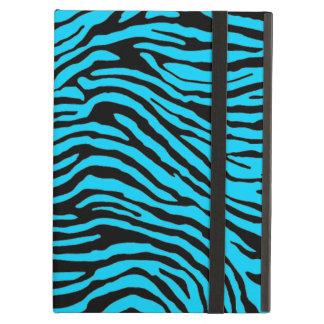 het blauwe en zwarte gestreepte hoesje van streepp iPad air hoesje