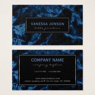 Het blauwe en Zwarte Marmer schittert Visitekaartjes
