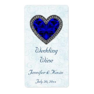 Het blauwe Etiket van de Wijn van het Huwelijk van
