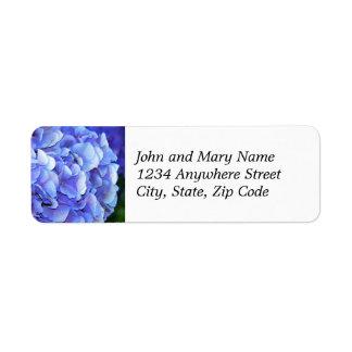 Het blauwe Etiket van het Adres van de Terugkeer