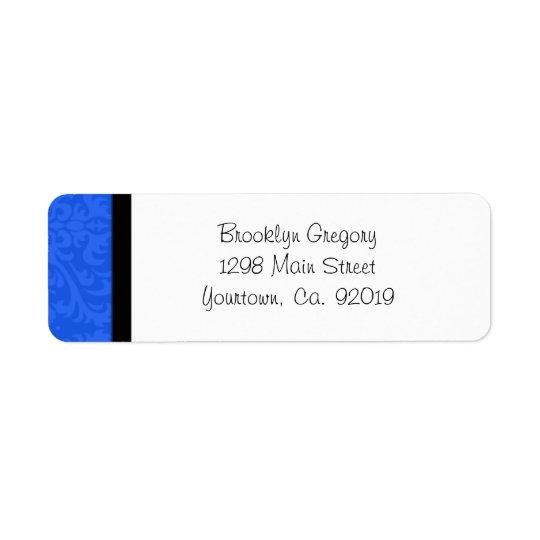 Het blauwe Etiket van het Adres van de Terugkeer Retouretiket