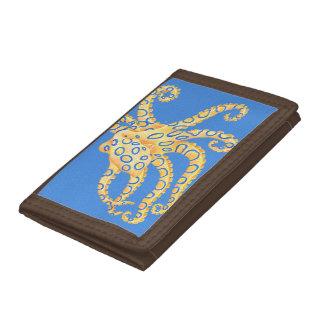 Het blauwe Gebrandschilderd glas van de Octopus