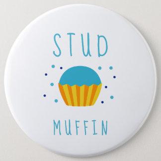 Het blauwe Geslacht van de Muffin van de Nagel van Ronde Button 6,0 Cm