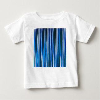 Het Blauwe Gestreepte Abstracte Patroon van de Baby T Shirts