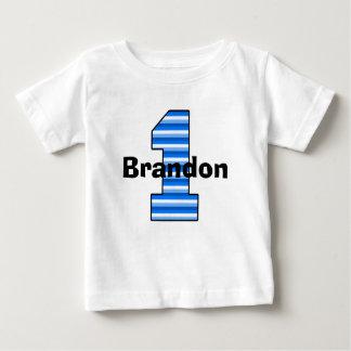 Het blauwe Gestreepte Eerste Overhemd van het Baby T Shirts