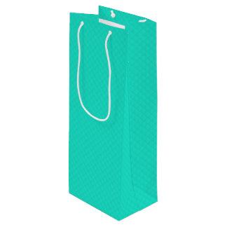 Het Blauwe Gewatteerde Patroon van Tiffany Aqua Wijn Cadeautas