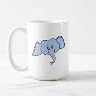 Het blauwe Gezicht van de Olifant. Cartoon Koffiemok