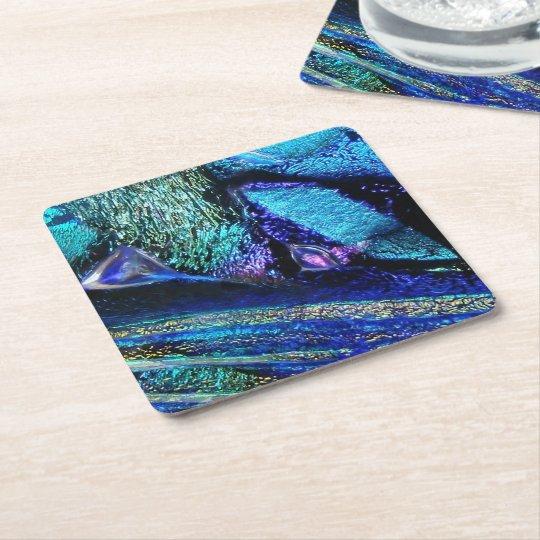 Het blauwe Glas van de Lava Vierkanten Viltjes